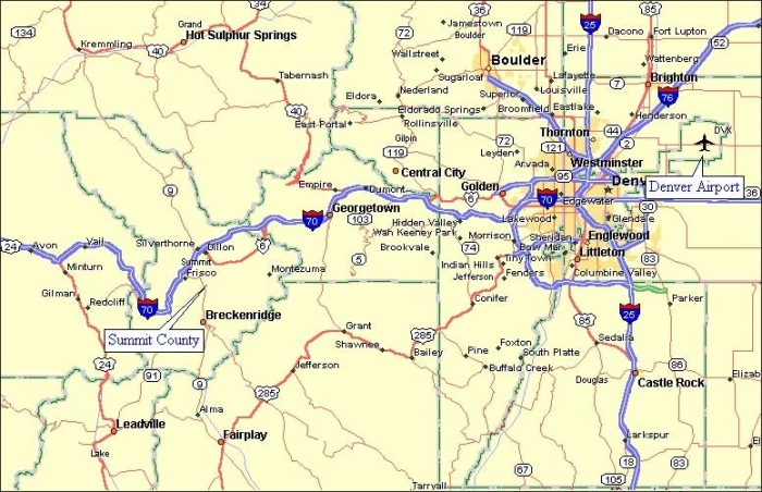 Keystone Lodging Map Seymour Lodging - Denver county map