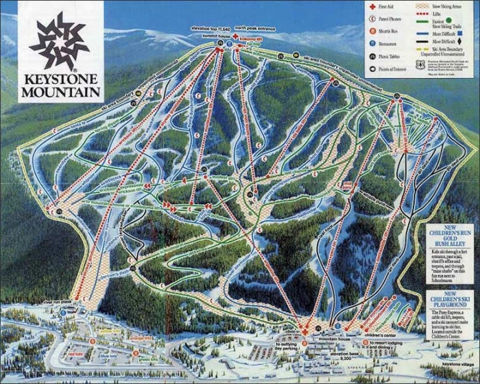 Summit County Driving And Ski Trail Maps