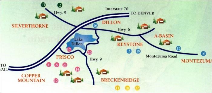 Keystone Lodging Map Seymour Lodging