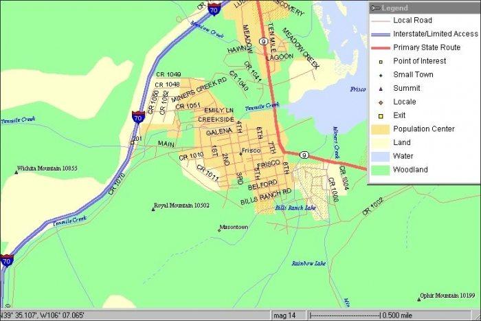 Keystone Lodging Map | Seymour Lodging on