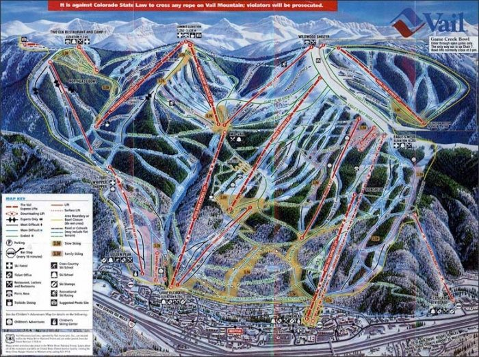 Vail Colorado Map State.Keystone Lodging Map Seymour Lodging