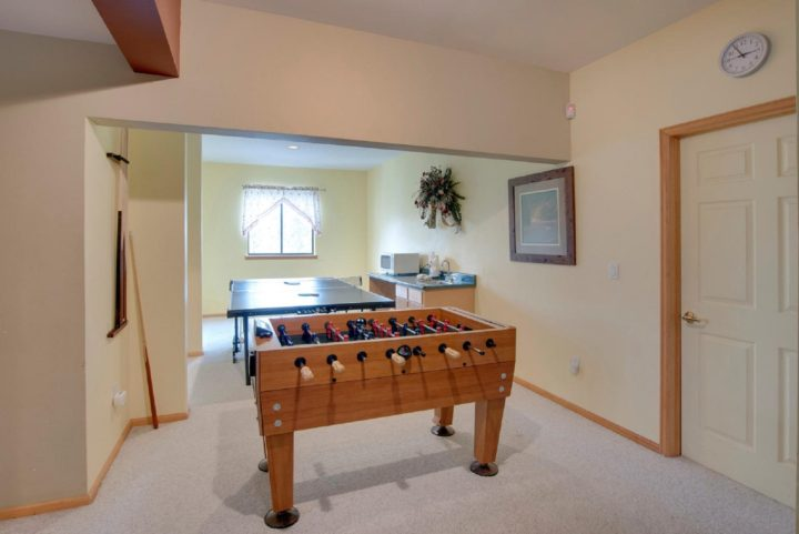 65 Snowberry Way foosball table