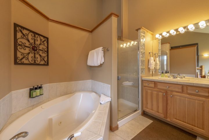 Master bath is private to Bedroom 1