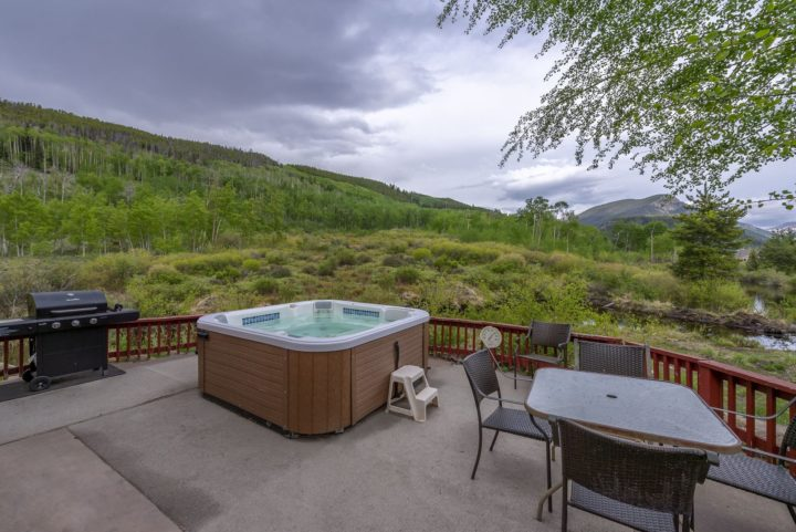 Hot tub and BBQ on private patio