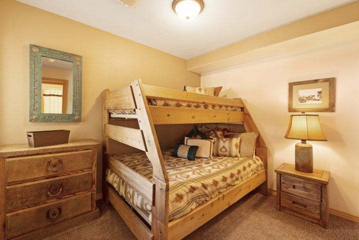 Bedroom 4 (Double + Twin beds). 3rd flat screen TV; full bath.