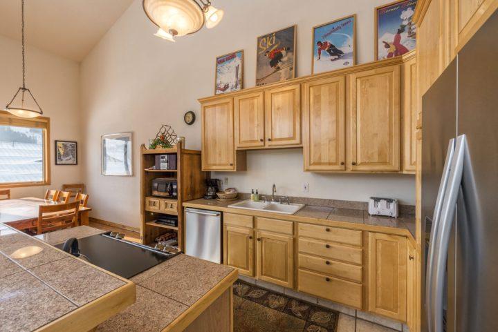 Kitchen in duplex unit #180