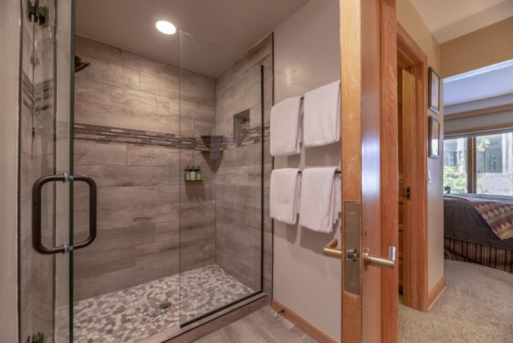 Master bath--New walk-in glass shower