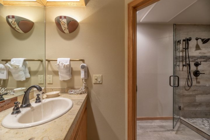 Master bath (private to Bedroom 1)