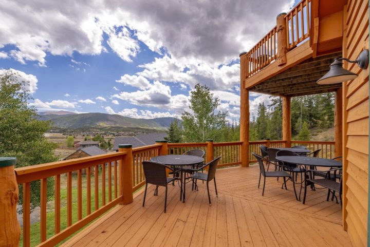 Deck tables offer 10-mile view.