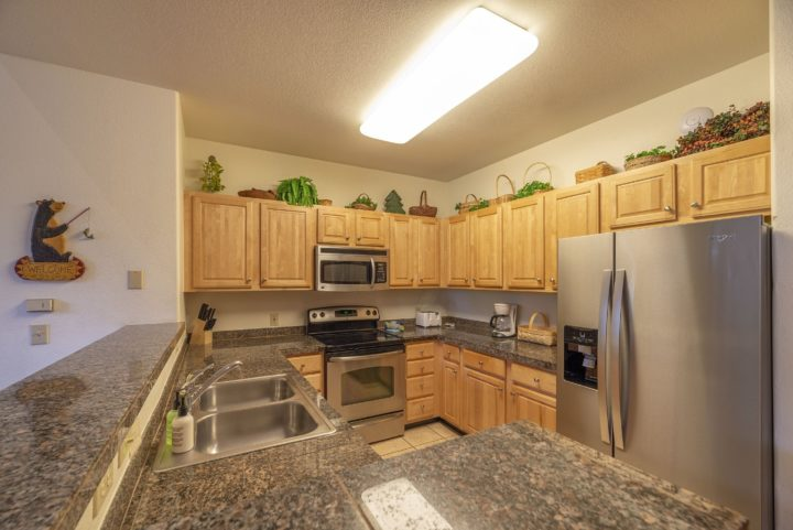 Granite counters throughout kitchen.