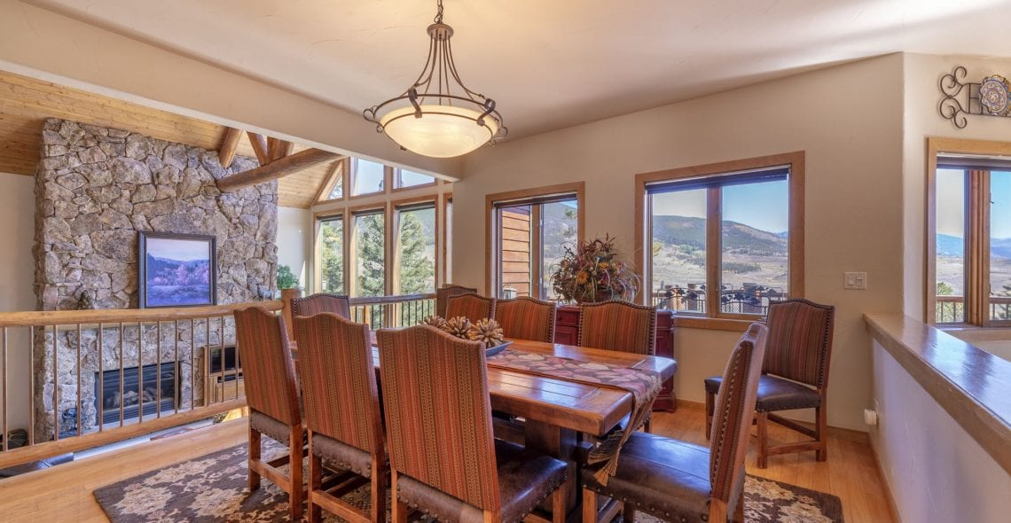 Dining room has the same panoramic views.
