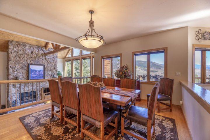 Dining room has the same panoramic views.
