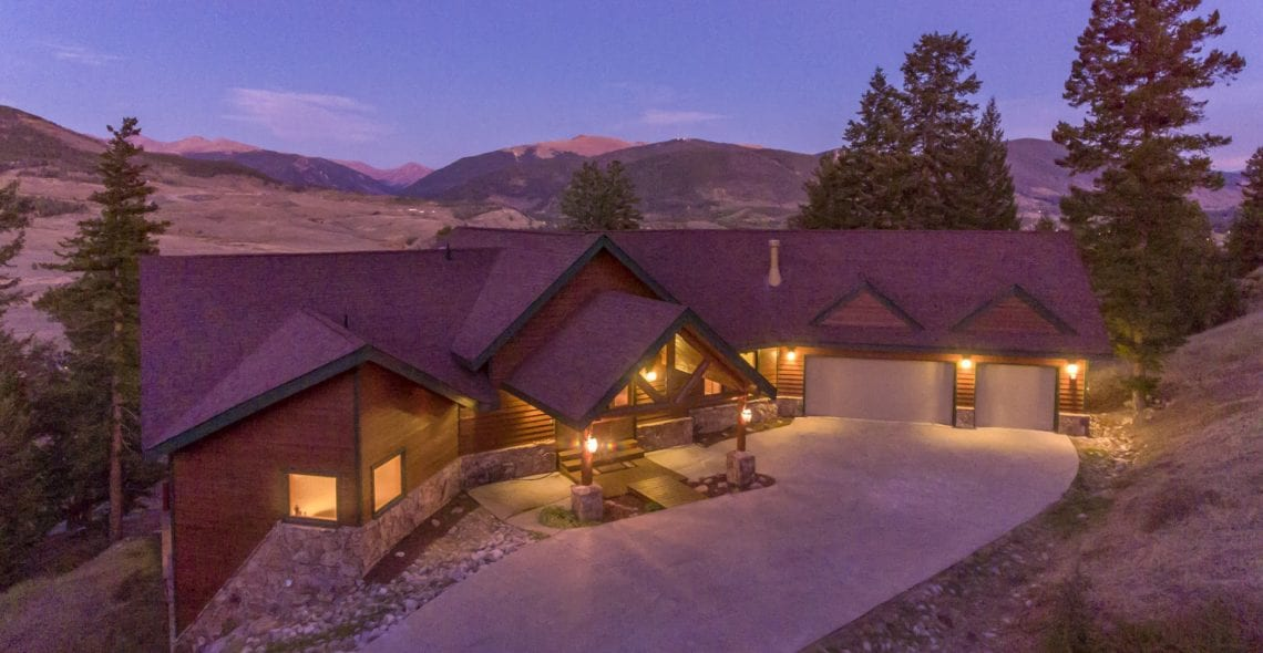 The house has a mile-wide view of the Continental Divide looking toward A-Basin
