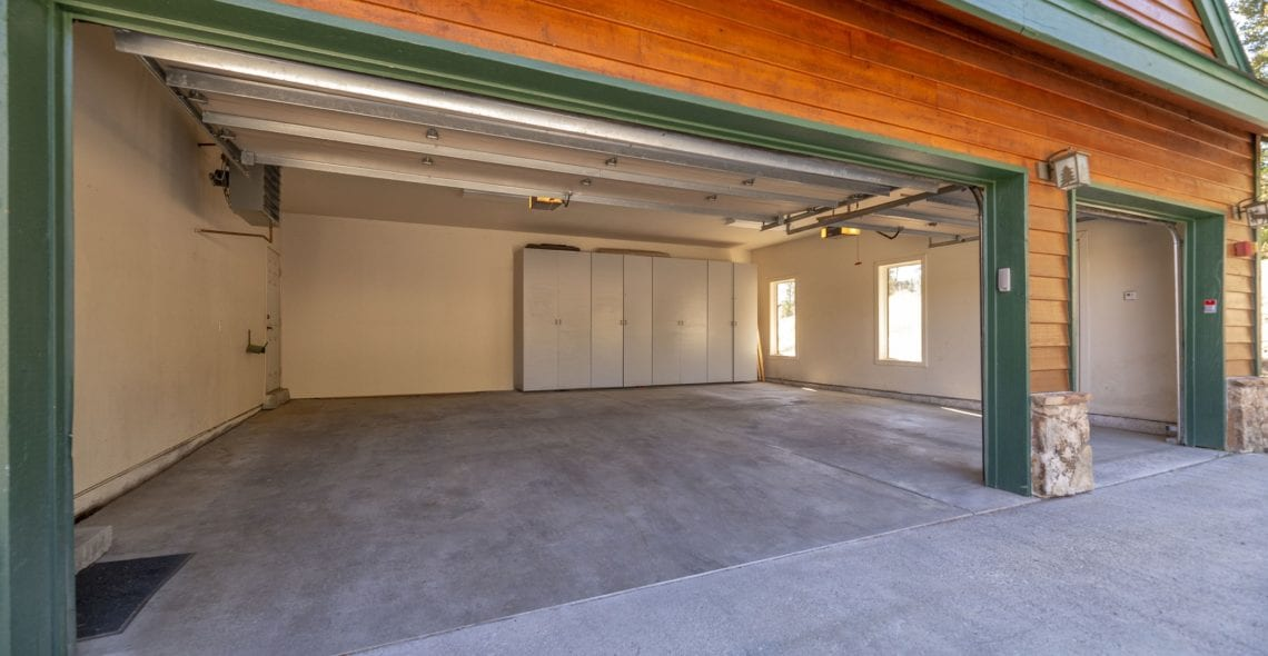 3-car garage with ample storage area for skis and equipment.