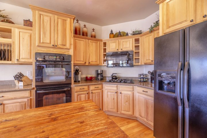 Full kitchen with top-of-the line appliances. All pots, pans, cooking utensils, and tableware included.