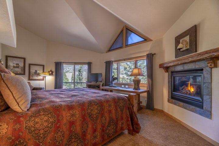 Sliding glass door to private deck for Master Bedroom. Decks on 4 split levels.