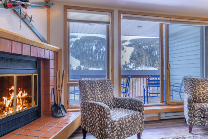 Living Room 1 (showing ski run view from room and private deck)