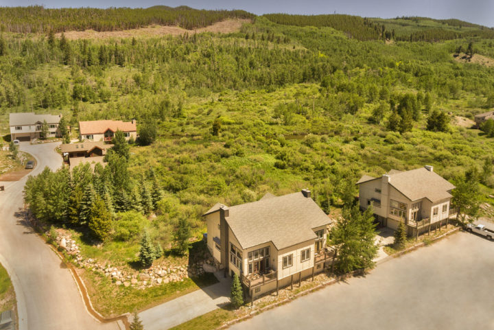 The Retreat (two 4BR/3 Bath duplex units in the ski area connected by an inside door). Rent either 4BR unit or both together.The Retreat--located next to protected wetlands in the ski area.