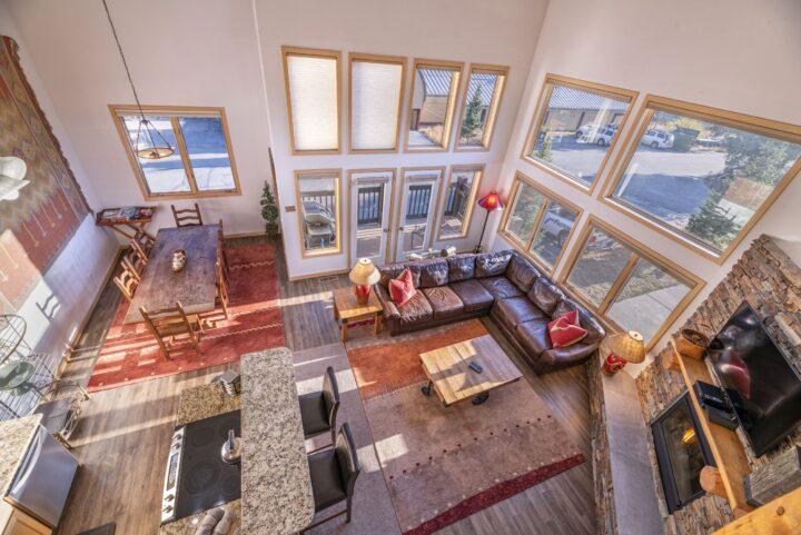 Overhead shot shows floor plan