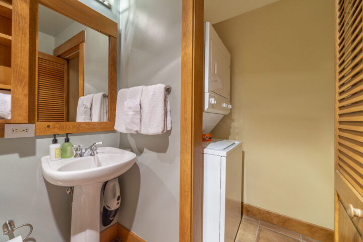 Washer/dryer closet is located off Bath 3.