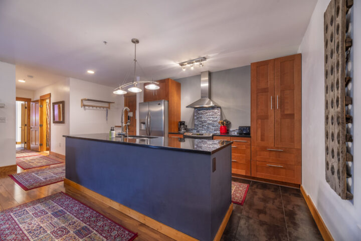 Gourmet kitchen with solid granite counters and stainless steel appliances